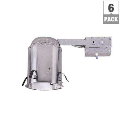H5 5 in. Aluminum Recessed Lighting Remodel Ceiling Insulation Contact Air-Tite Housing (6-Pack)