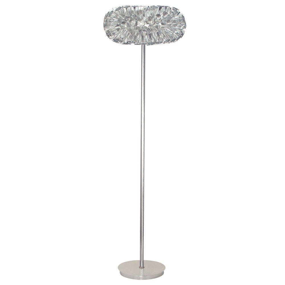 Eglo Rebell 58 in. 1-Light Aluminum Floor Lamp
