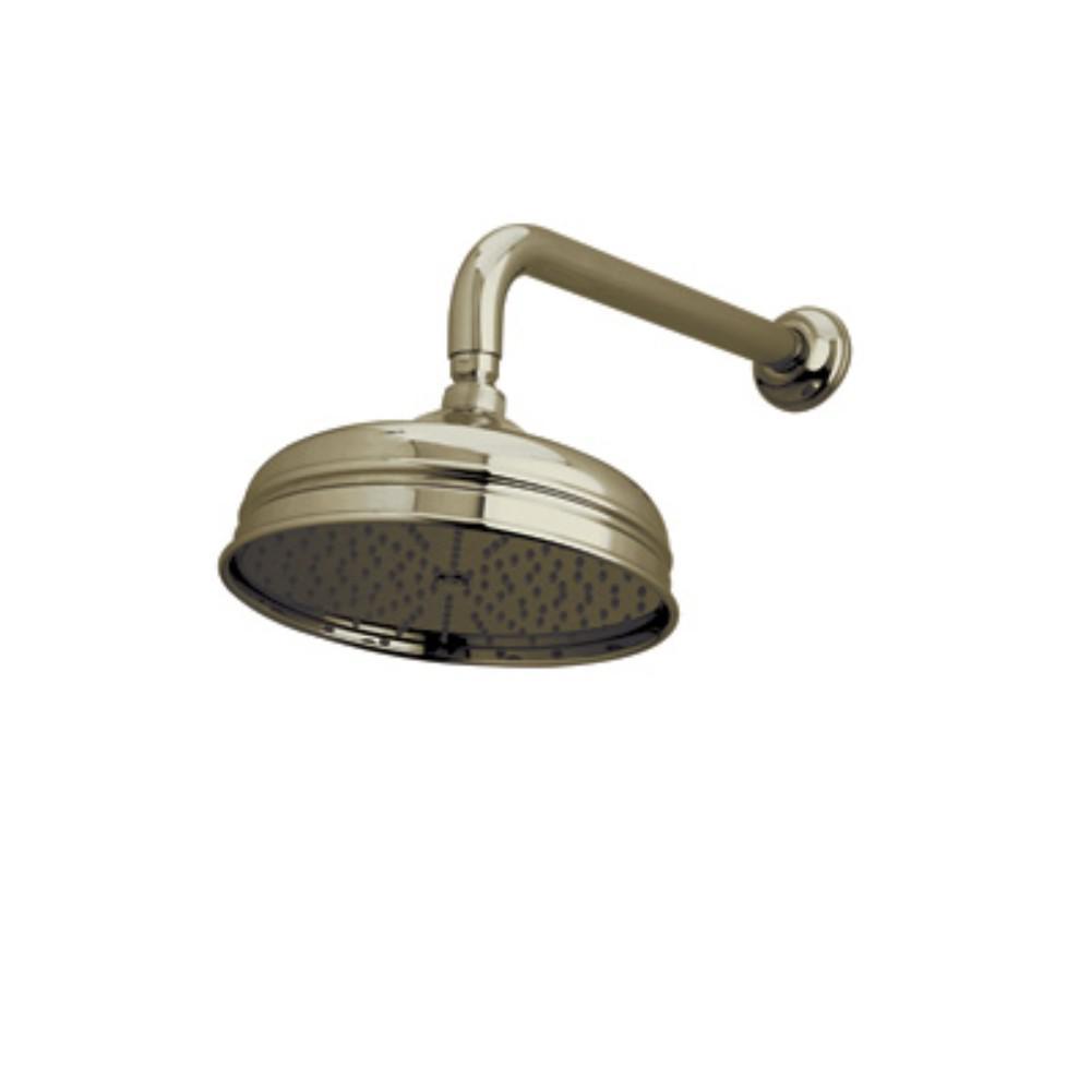 Bordano 1-Spray 8 in. Fixed Showerhead in Tuscan Brass