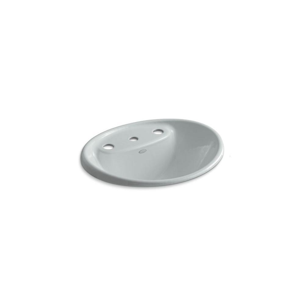 KOHLER Tides Self-Rimming Bathroom Sink in Ice Grey