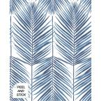 Paradise Palm Coastal Blue Vinyl Strippable Roll (Covers 30.75 sq. ft.)