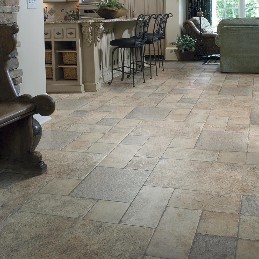 Innovations Tuscan Stone Sand 8 Mm, Light Stone Laminate Flooring