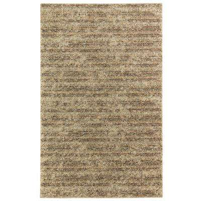 Neutral Stripe Beige 8 ft. x 10 ft. Area Rug