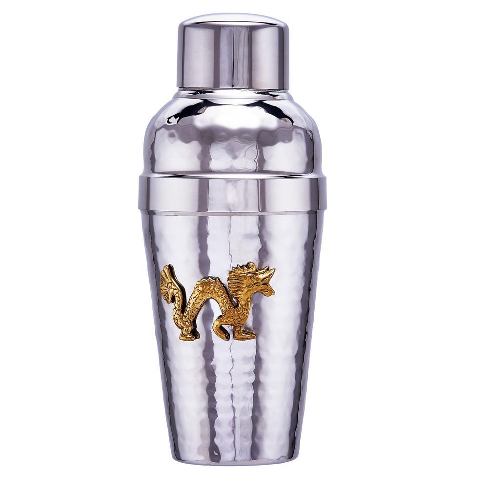 Dragon Medallion Stainless Steel Cocktail Shaker