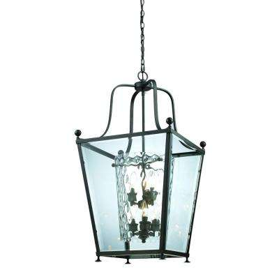 Lawrence Collection 6-Light Bronze Pendant