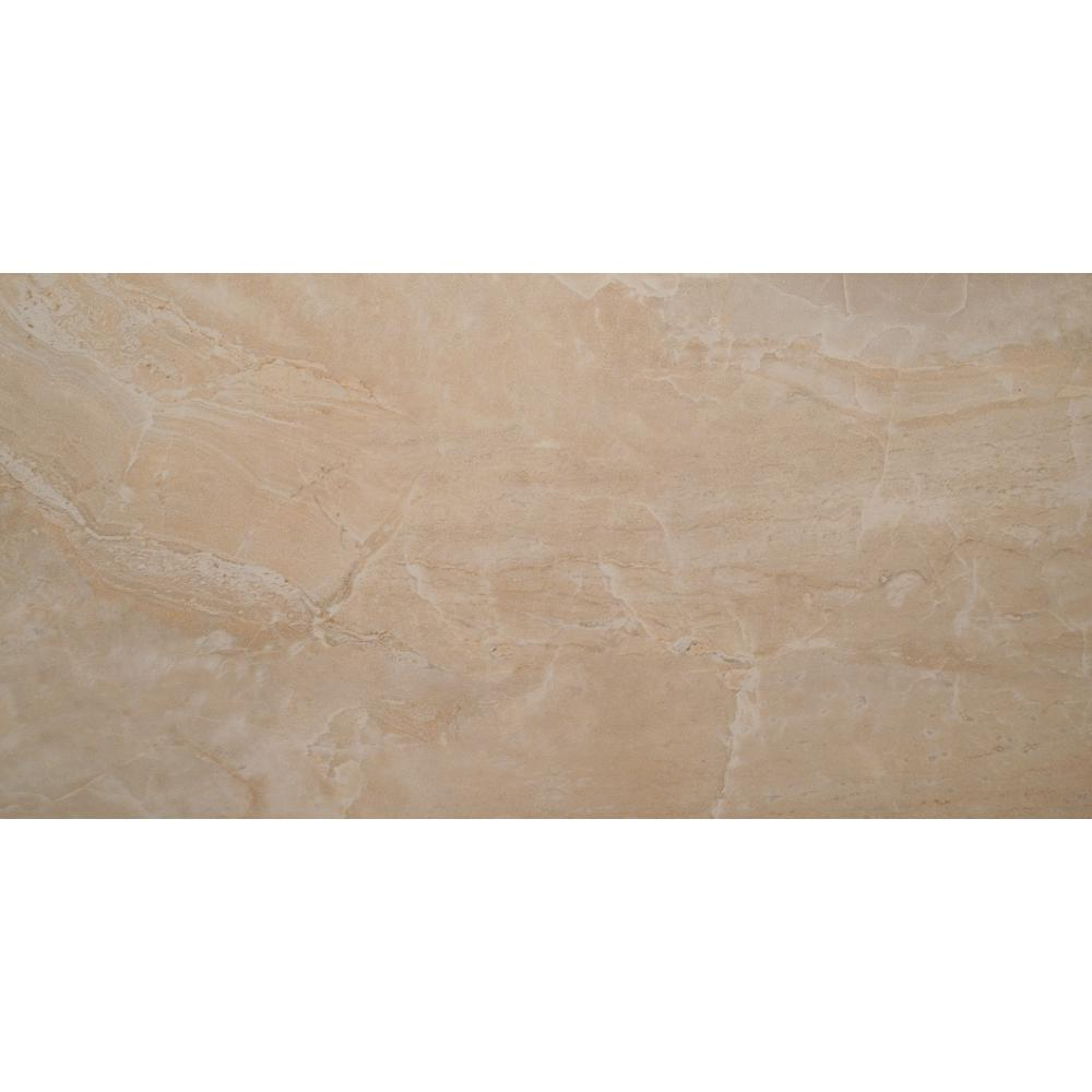 Onyx Crystal 16 in. x 32 in. Polished Porcelain Floor and