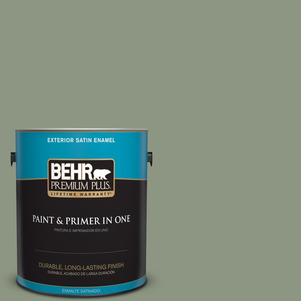1 gal. #PPU11-17 Hillside Green Satin Enamel Exterior Paint