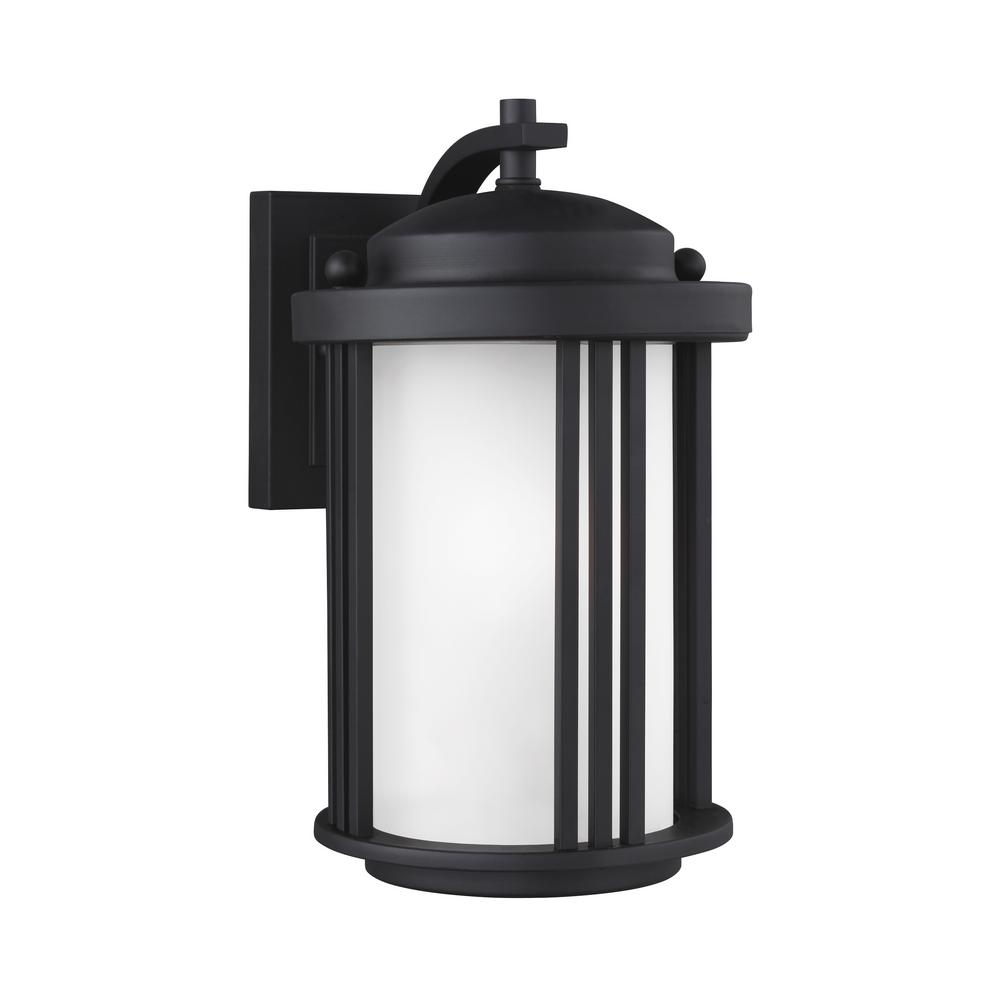 Crowell 1-Light Black Outdoor Wall Mount Lantern