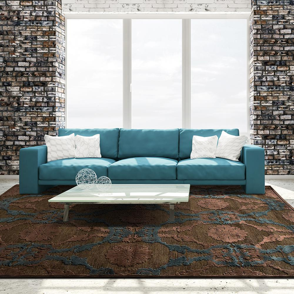 Amadeus Chocolate (Brown) 4 ft. 2 in. x 6 ft. Area Rug