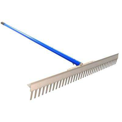 6 ft. Aluminum Handle T Connector Landscape Rake
