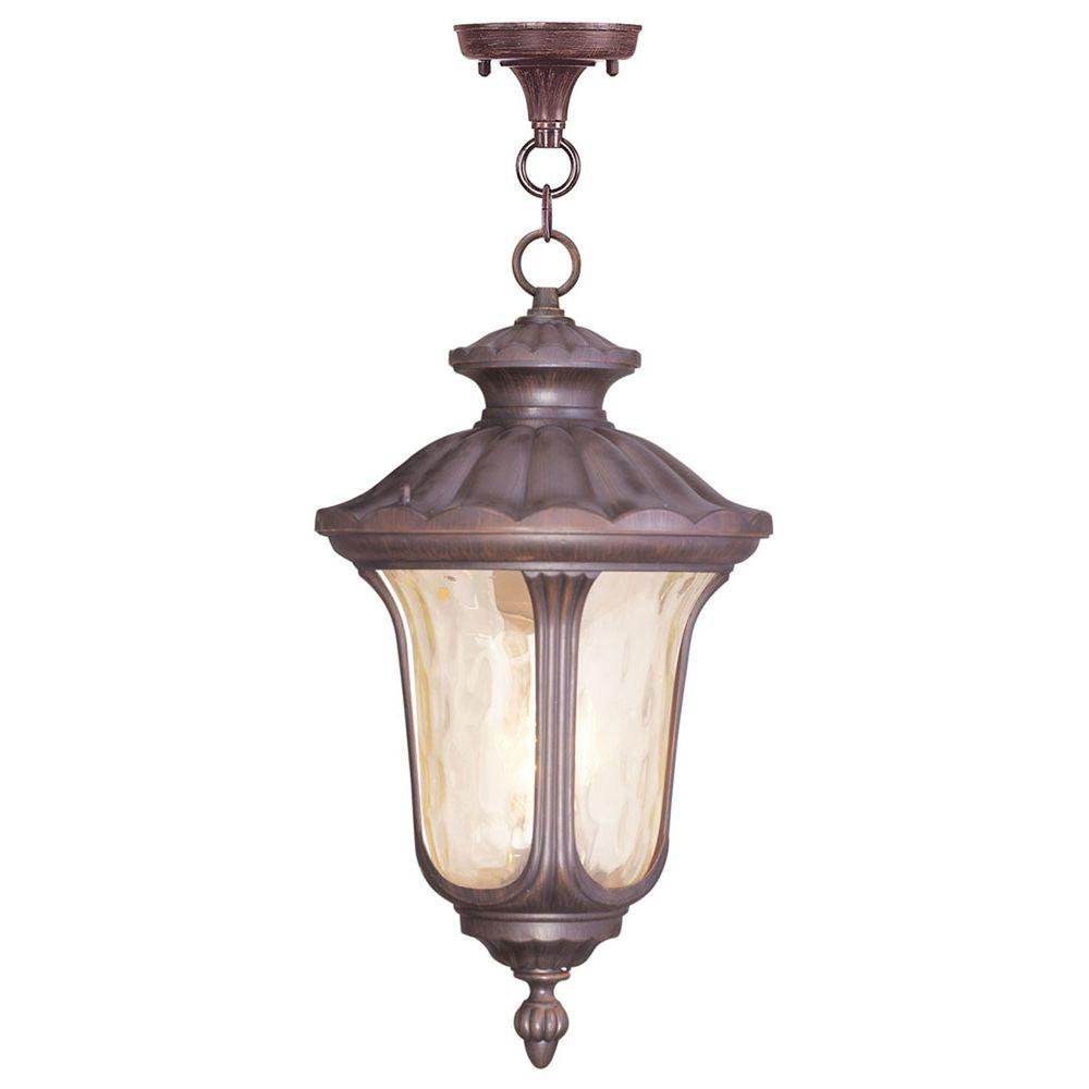 Livex Lighting Providence 3-Light Imperial Bronze Outdoor Hanging Pendant