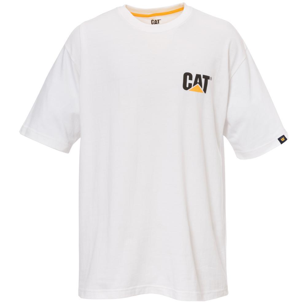 Trademark Men's X-Large White Cotton Short Sleeved T-Shirt