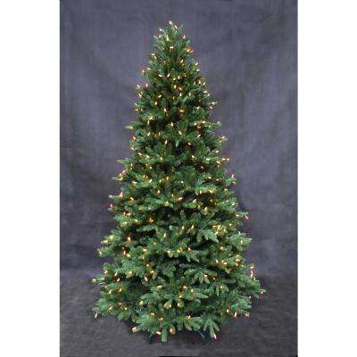 Pre Lit Rotating Christmas Tree.7 5 Ft Pre Lit Led European Fir Tree