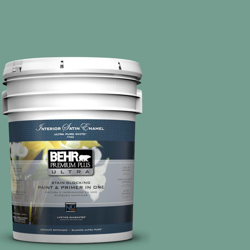 BEHR Premium Plus Ultra 5-gal. #M430-5 Regal View Satin Enamel Interior Paint