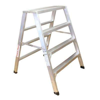 4 ft. Aluminum Flat-Top Sawhorse Ladder
