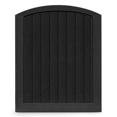 Pro Series 5 ft. W x 6 ft. H Black Vinyl Anaheim Privacy Arched Top Fence Gate