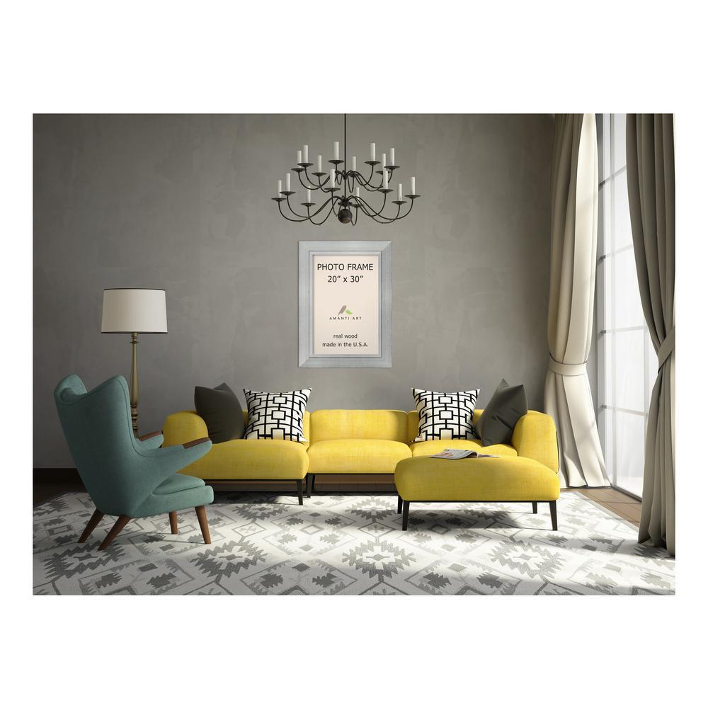 Amanti Art Romano 20 In X 30 In Silver Picture Frame Dsw1385388