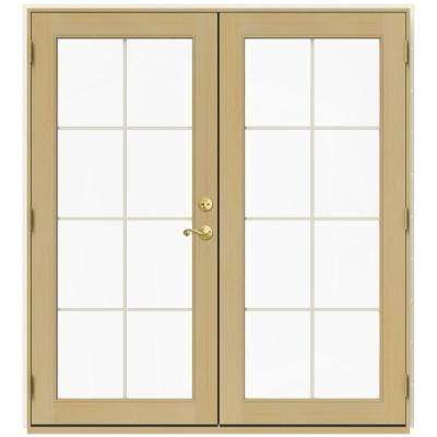 71.5 in. x 79.5 in. W-2500 French Vanilla Right-Hand Inswing French Wood Patio Door