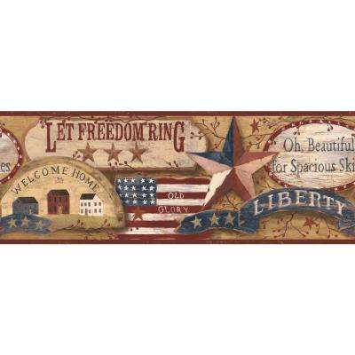 Inspired By Color Country Americana Wallpaper Border