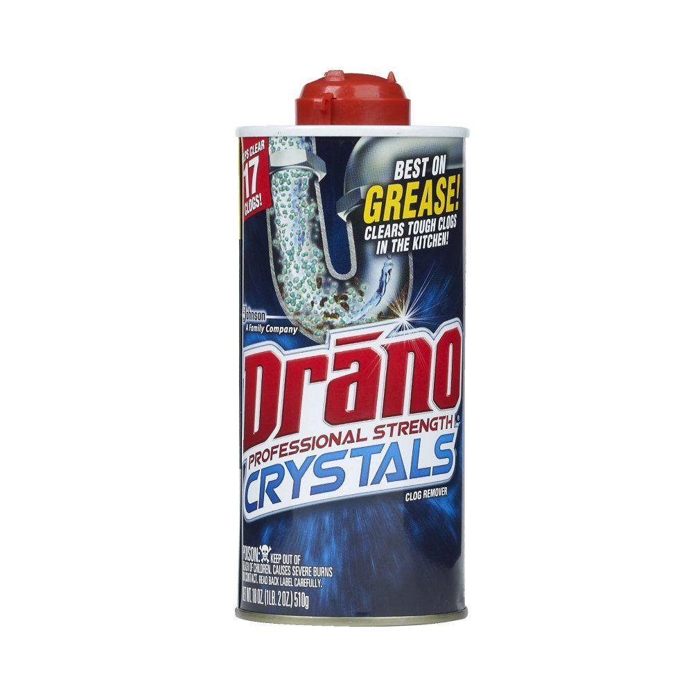 Drano 18 Oz Kitchen Crystals Clog Remover 020113 The
