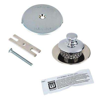Universal NuFit Push Pull Bathtub Stopper with Grid Strainer, One Hole Overflow and Silicone Kit in Chrome Plated