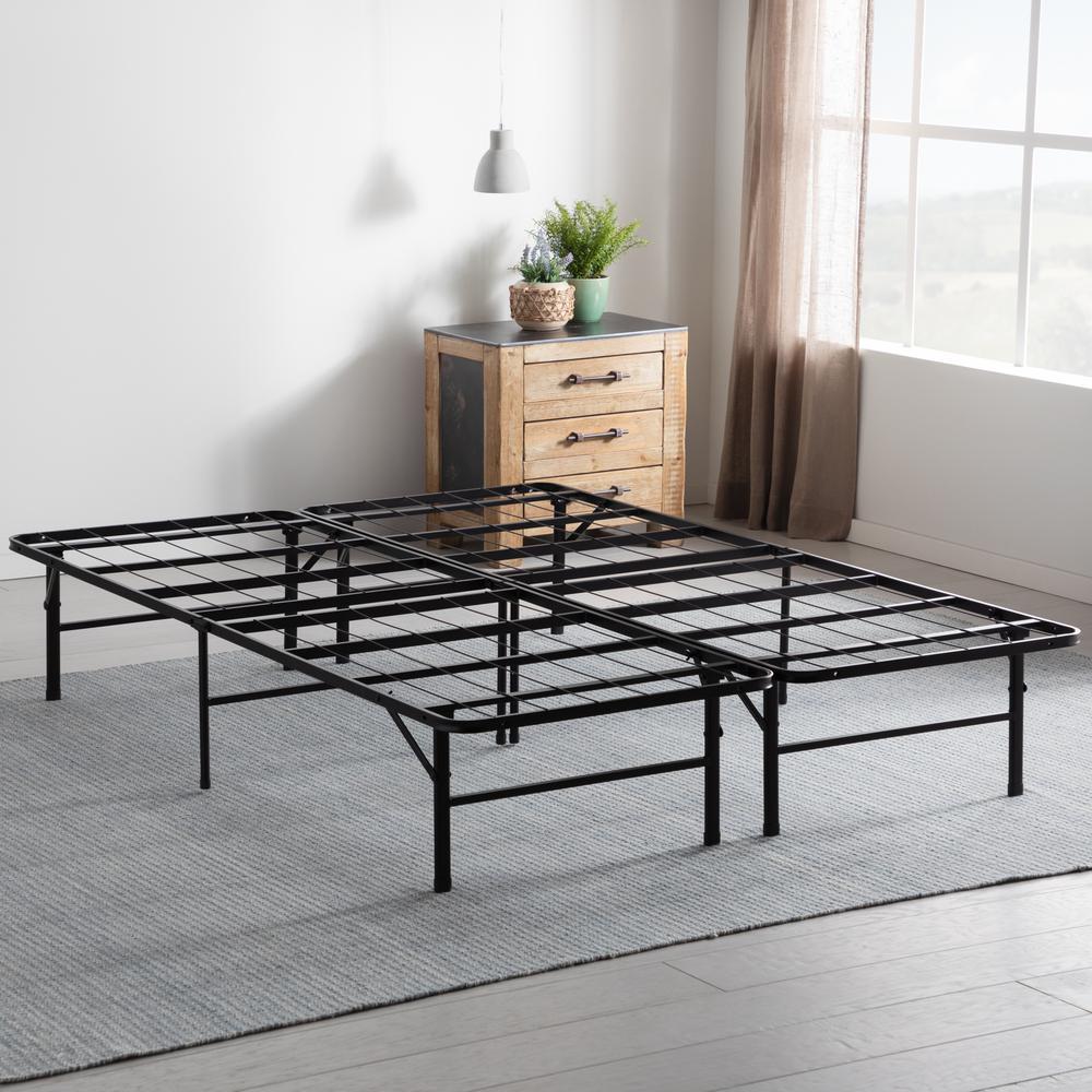 14 in. Twin Folding Platform Bed Frame