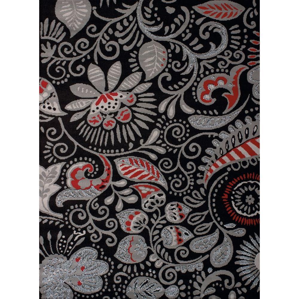 Bandanna Black 5 ft. 3 in. x 7 ft. 2 in. Indoor Area Rug