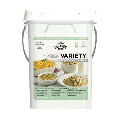 Breakfast, Lunch and Dinner Variety Pail Emergency Food Supply 13 Varieties 25 Year Shelf Life