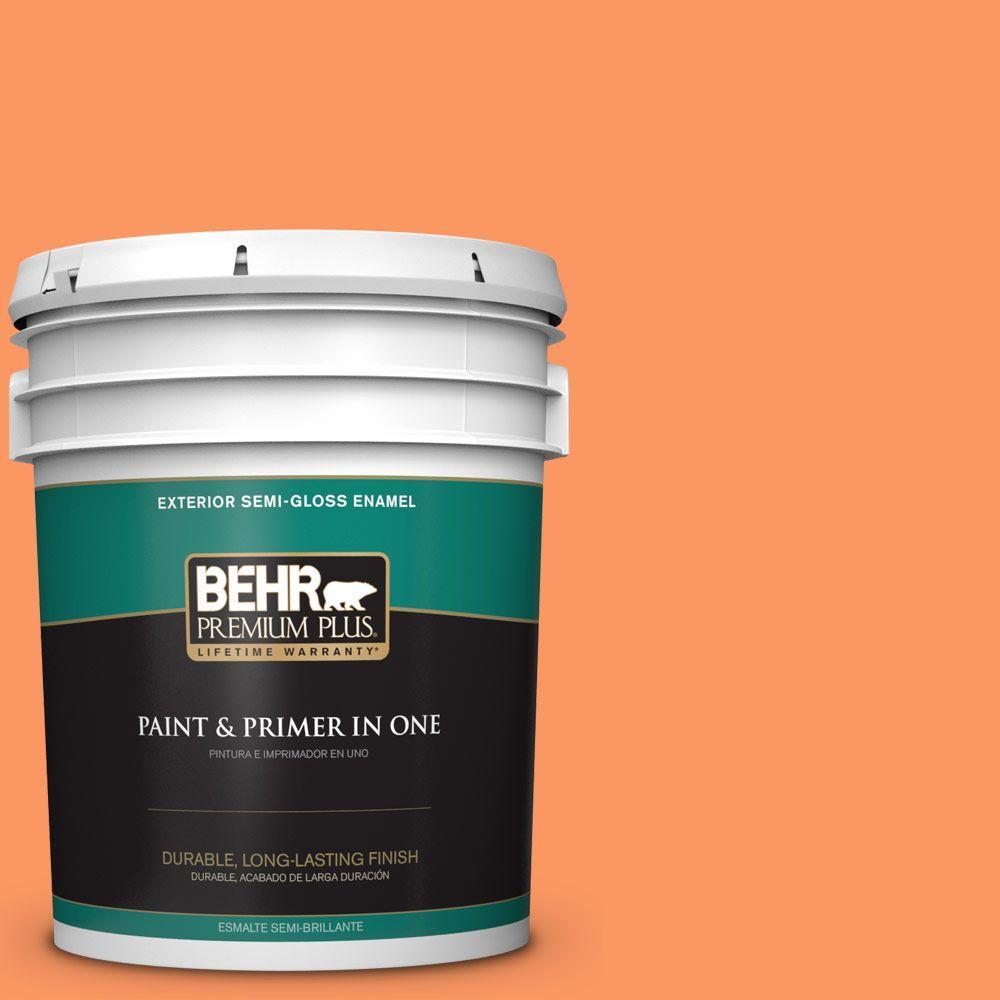 BEHR Premium Plus 5-gal. #230B-5 Indian Paint Brush Semi-Gloss Enamel Exterior Paint