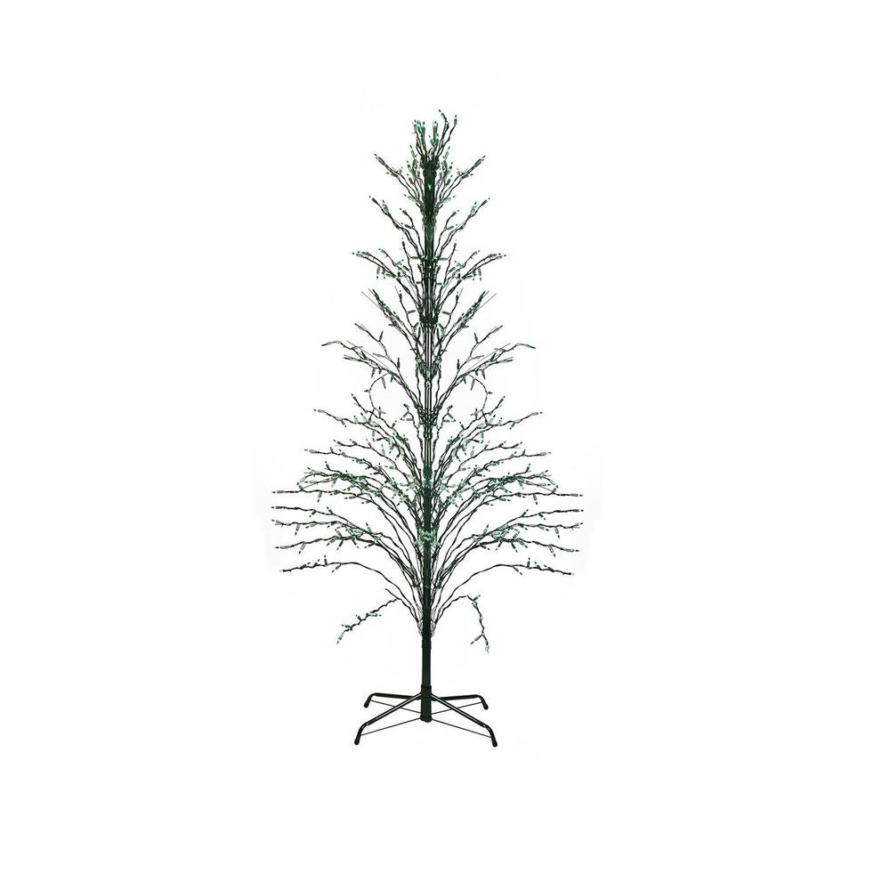 Outdoor White Twig Christmas Tree: Northlight 6 Ft. Green Lighted Christmas Cascade Twig Tree