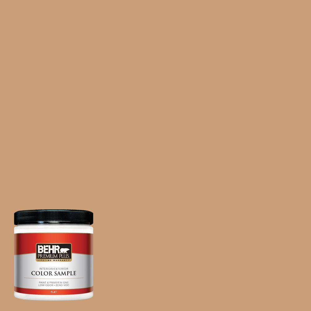 BEHR Premium Plus 8 oz. #ICC-62 Pumpkin Butter Interior/Exterior Paint Sample