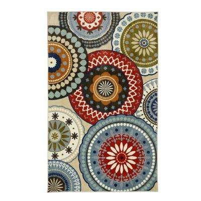 Suzani Blue Vintage 5 ft. x 8 ft. Area Rug