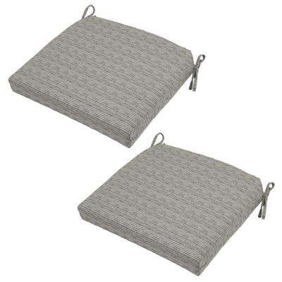patio dining chair cushions. Cement Texture Deluxe Outdoor Seat Cushion (2-Pack) Patio Dining Chair Cushions