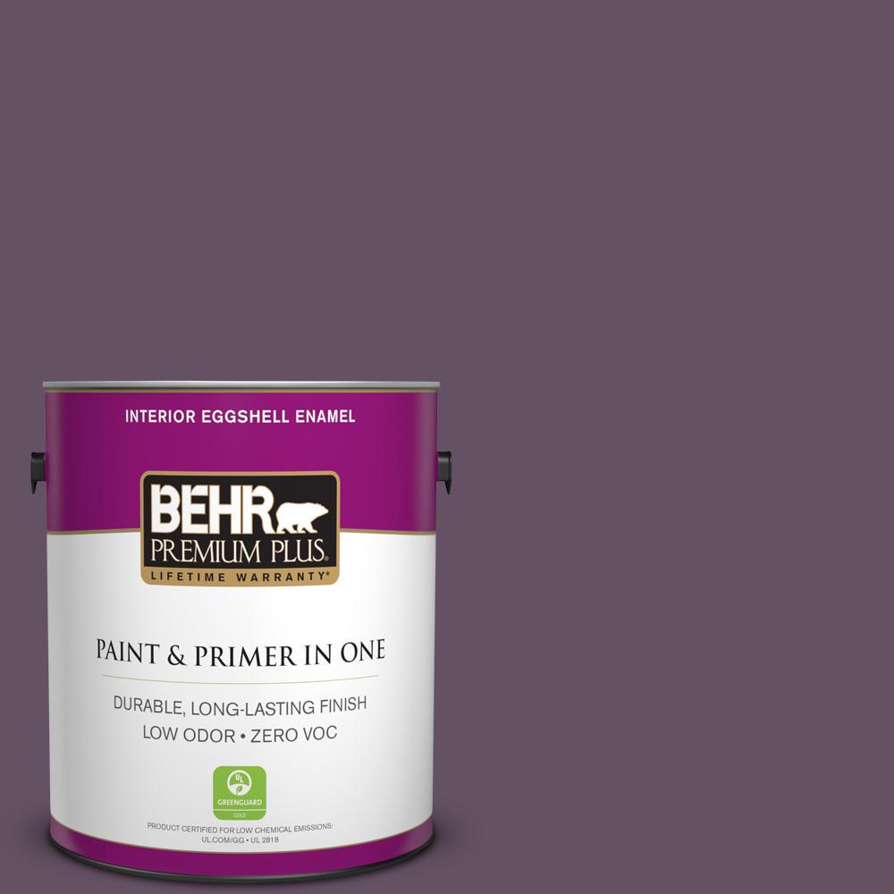 1 gal. #PPU17-05 Preservation Plum Zero VOC Eggshell Enamel Interior Paint