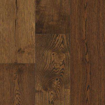 Waterproof Flooring Gingerbread Oak 6.5 mm T x 6.5in.W x 48in.L Click Engineered Hardwood Flooring (21.67 sq.ft./case)