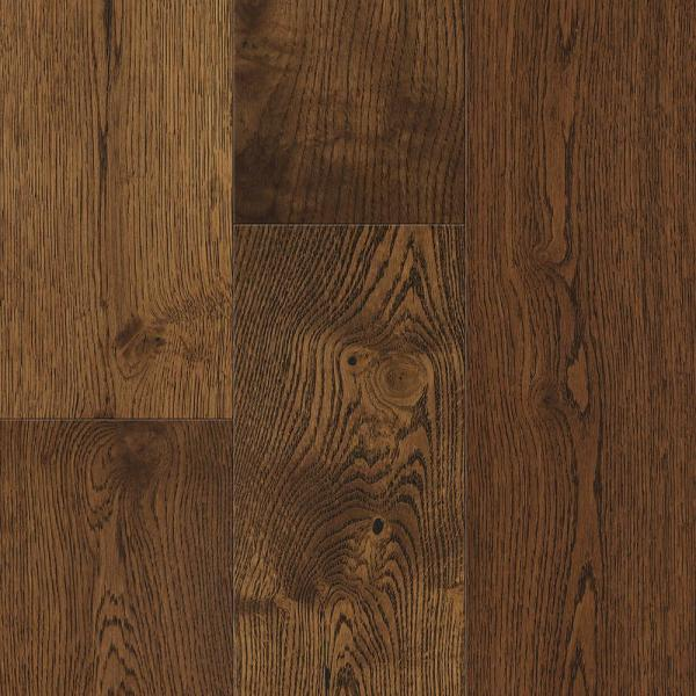Waterproof Flooring Gingerbread Oak 6.5 mm T x 6.5in.W x 48in.L Click Engineered Hardwood Flooring (21.67 sq.ft./case)