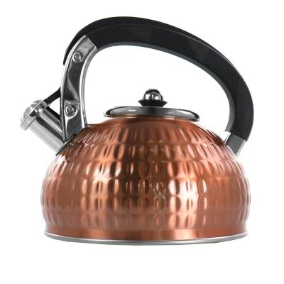 12-Cup Copper Stainless Steel Whistling Kettle
