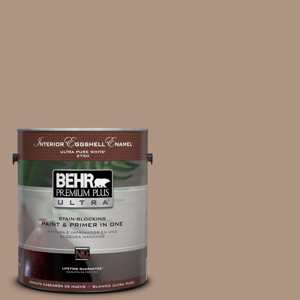 BEHR Premium Plus Ultra 1-gal. #HDC-SP14-5 Mocha Tan Eggshell Enamel Interior Paint