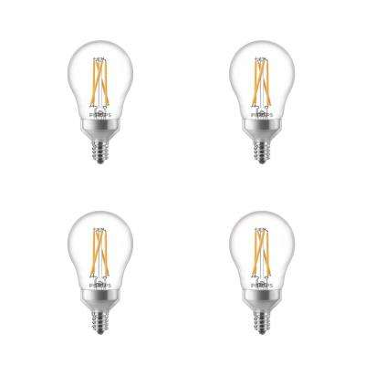 40-Watt Equivalent A15 Dimmable with Warm Glow Dimming Effect Candelabra Base LED Light Bulb Soft White (4-Pack)