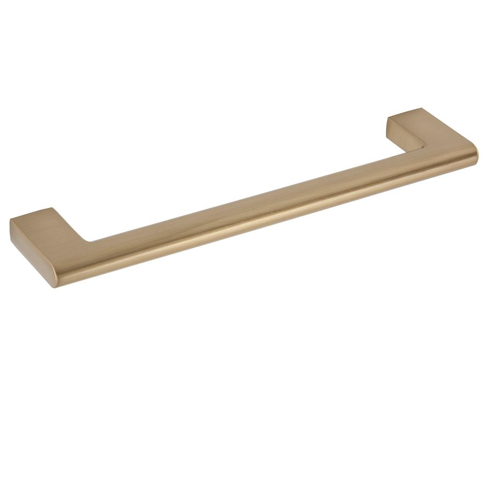 Sumner Street Home Hardware Vail 6 in. Center-to-Center Satin Brass Drawer Pull