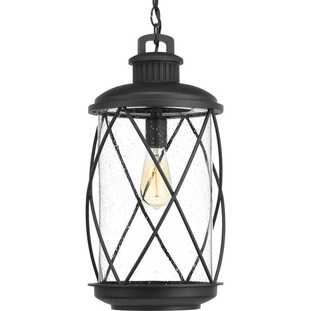 Progress Lighting Hollingsworth Collection Black 1 Light Outdoor Hanging Lantern P550029 031 The Home Depot