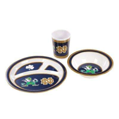 NCAA Notre Dame Fighting Irish 3-Piece Kid's Dish Set