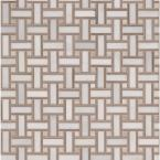 Renaissance 12 in. x 12 in. x 10 mm HonedMarble Mesh-Mounted Mosaic Floor and Wall Tile (1 sq. ft.)