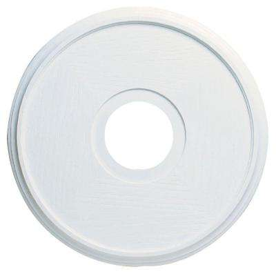 16 in. Textured White Finish Ceiling Medallion