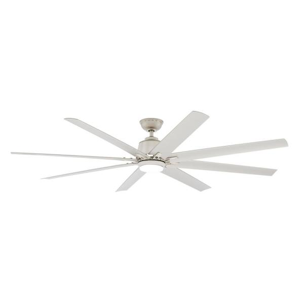 Home Decorators Collection Kensgrove 72 In Integrated Led Indoor Outdoor Brushed Nickel Ceiling Fan With Light Kit And Remote Control Yg493od Bn The Home Depot