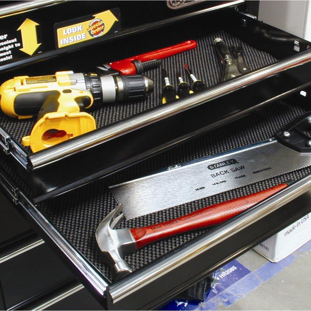 Husky Garage Grip Black Shelf Liner