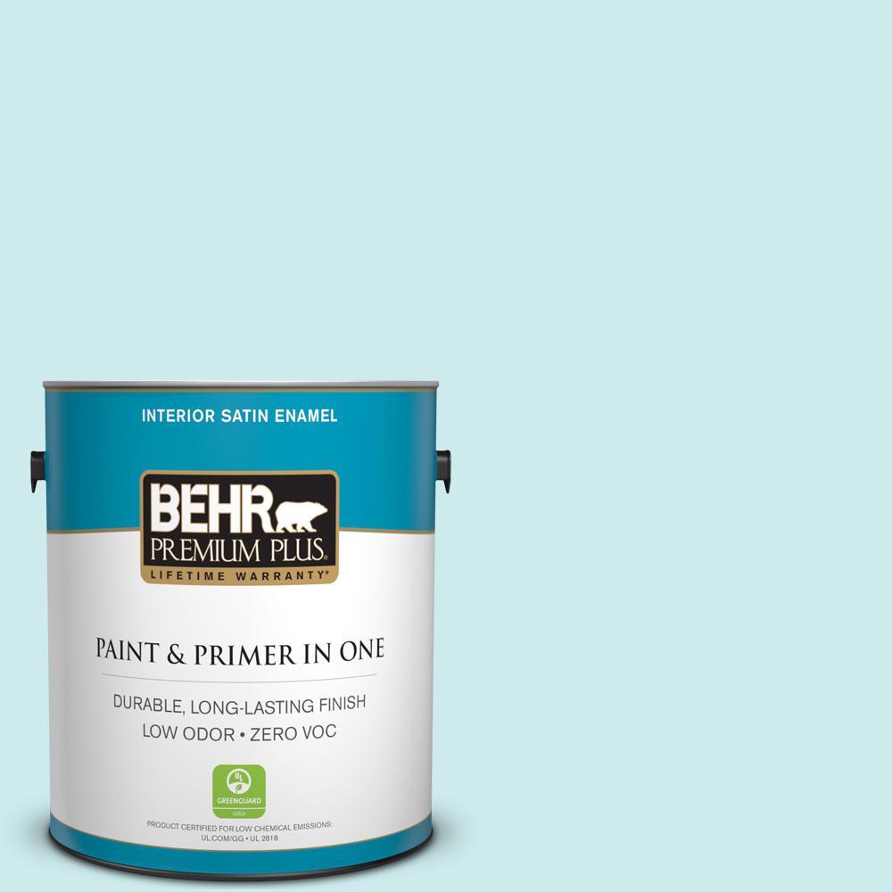 1-gal. #520C-2 Fountain Spout Zero VOC Satin Enamel Interior Paint