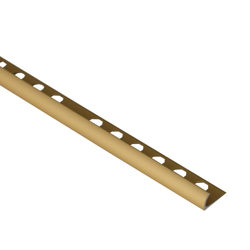 Novocanto Matt Gold 5/16 in. x 98-1/2 in. Aluminum Tile Edging Trim