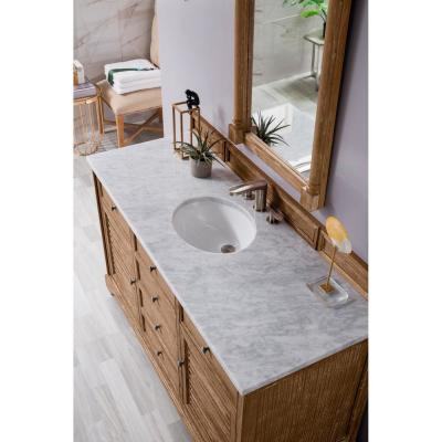 James Martin Vanities Savannah 60 In Single Bath Vanity In Driftwood With Marble Vanity Top In Carrara White With White Basin 238 104 5311 3ocar The Home Depot