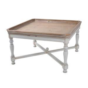 Alcott Aged White Square Coffee Table